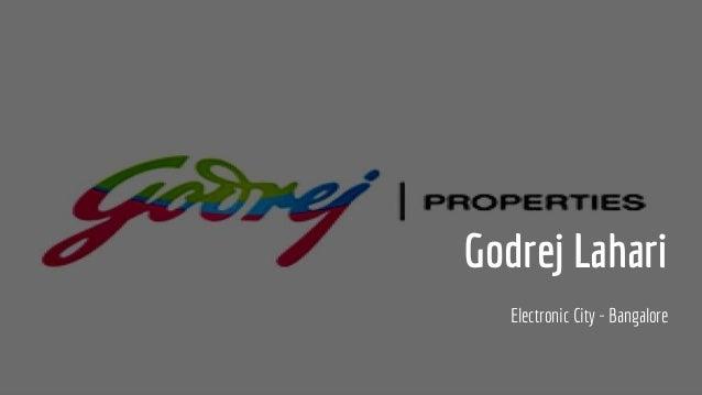 Godrej Lahari Electronic City - Bangalore