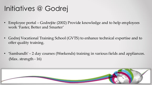 """training and development at godrej Join hands with godrej & boyce, in setting up a skill development centre, to impart training in """" servicing of home appliances – refrigerators, air conditioners ,."""