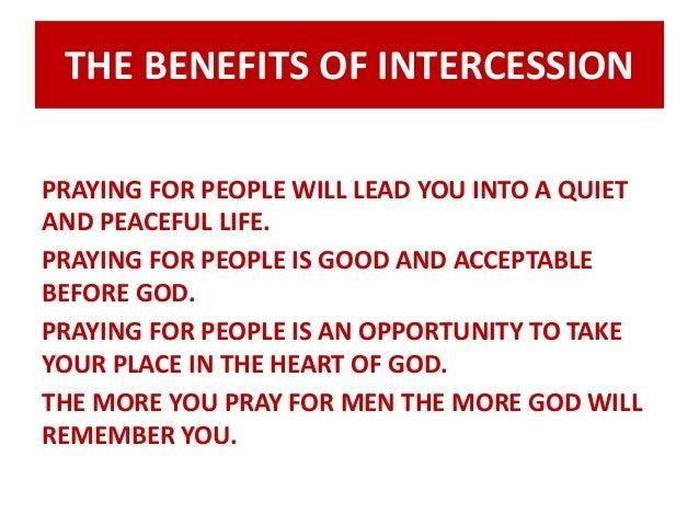 Benefits of intercessory prayer
