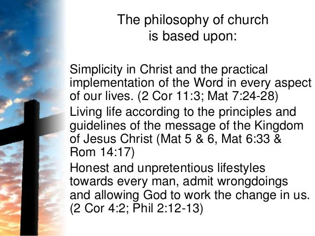 Gods blueprint for church 3 the philosophy of church malvernweather Choice Image