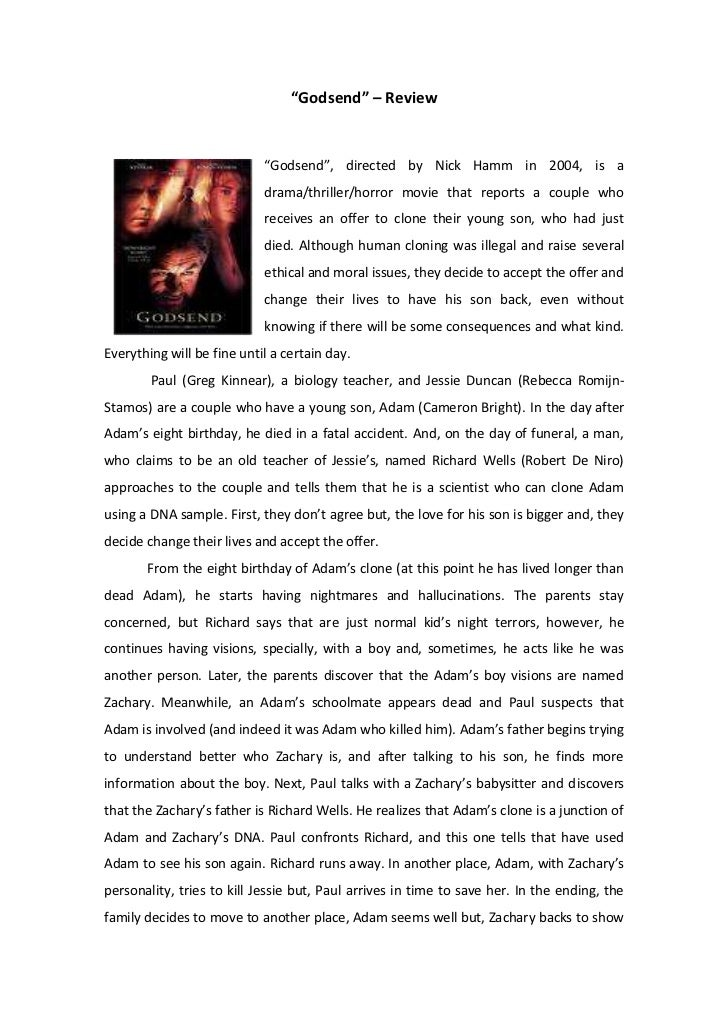"""""""Godsend"""" – Review<br />10096533655""""Godsend"""", directed by Nick Hamm in 2004, is a drama/thriller/horror movie that reports..."""