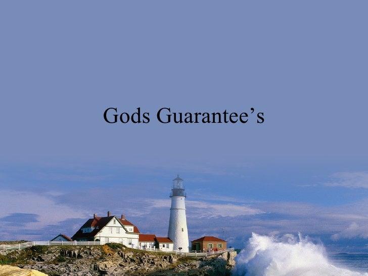 Gods Guarantee's