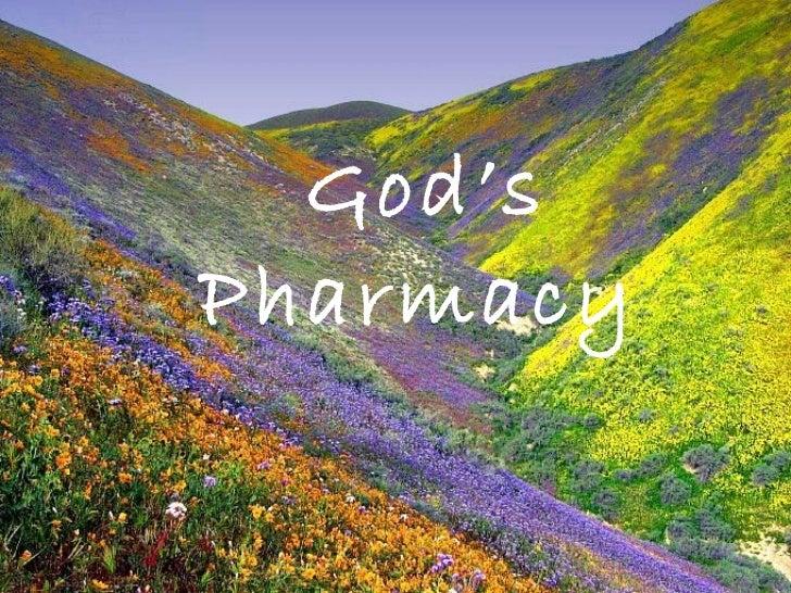 God 39 s natural pharmacy for God s garden pharmacy