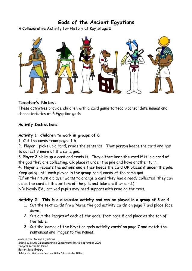 English worksheets: Egypt Gods and Goddess