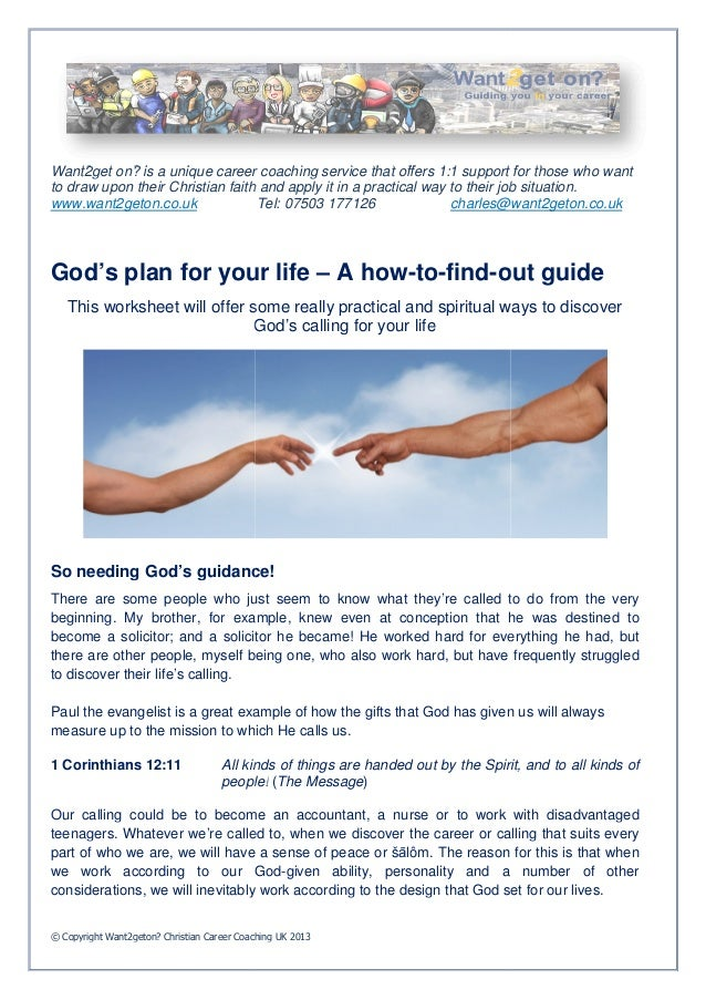 God's plan for your life – A how to-find-out-guide