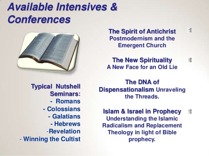 Available Intensives &Conferences                              The Spirit of Antichrist                              Postm...