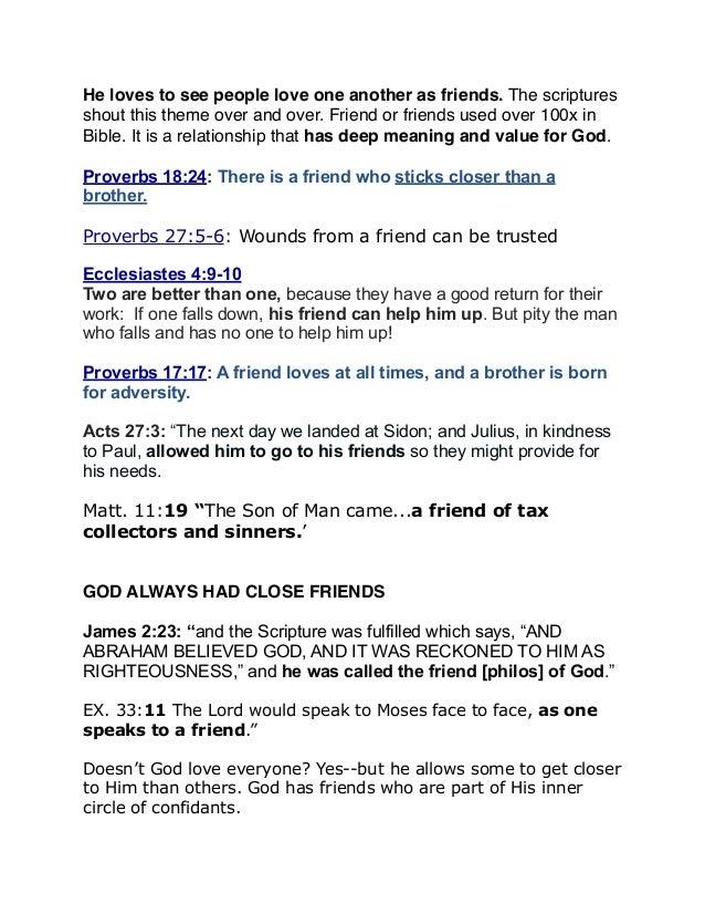 God Loves Friendship