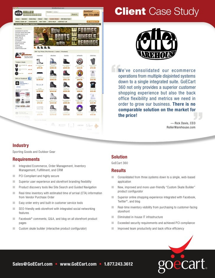Client Case Study                                                                               We've consolidated our eco...
