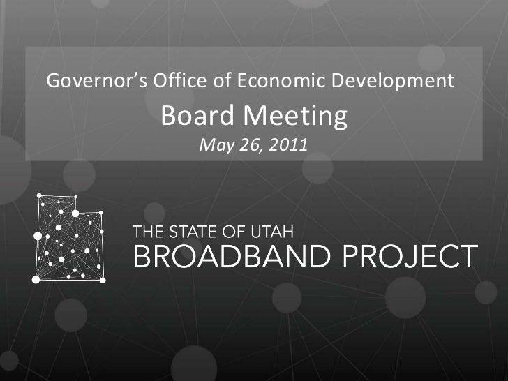 Governor's Office of Economic Development   Board Meeting May 26, 2011
