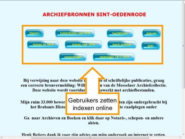 Gebruikers zetten indexen online