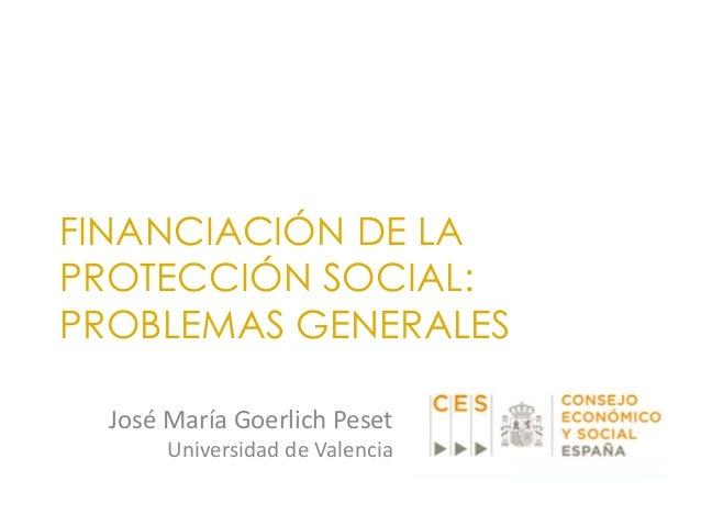 Financiaci n de la protecci n social problemas generales for Universidad de valencia online