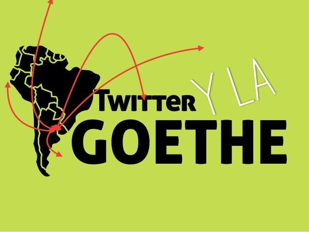 Twitter GOETHE y la