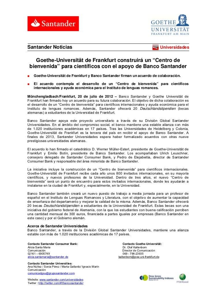 Santander Noticias                                                                      Universidades    Goethe-Universitä...