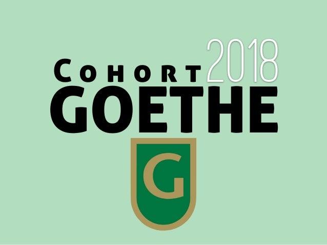 C o h o r t GOETHE 2018