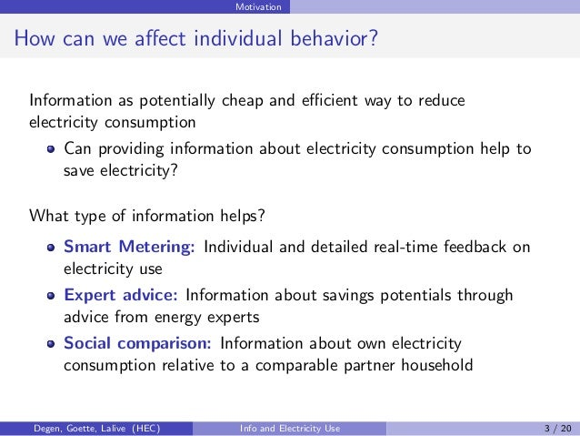 The Role of Information for Electricity Consumption: Smart Metering, …