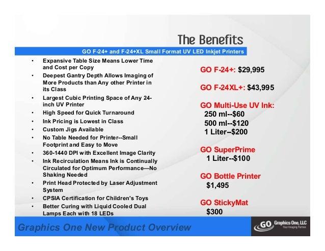 New Go F 24 Go F 24xl Small Format Uv Inkjet Printer