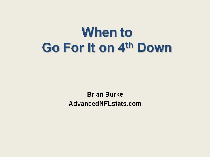 Go for It on 4th Down (Details)