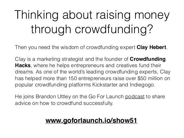 Wisdom of Crowdfunding Expert Clay Hebert Slide 3