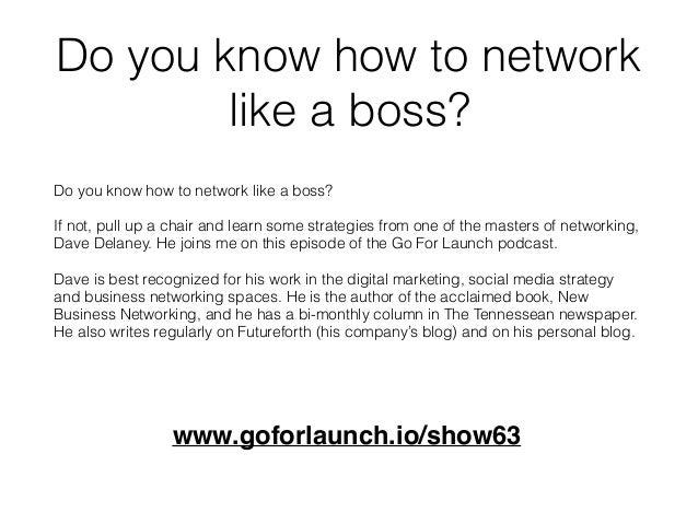Network Like A Boss Slide 3