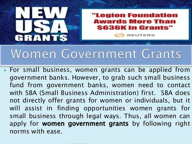 Government Grants For Small Business For Woman 114