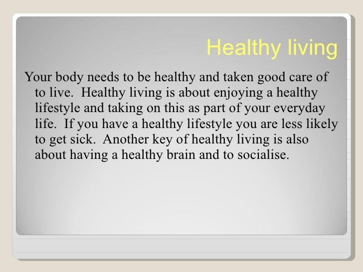 Delicieux Essay Healthy Living Mediafiles