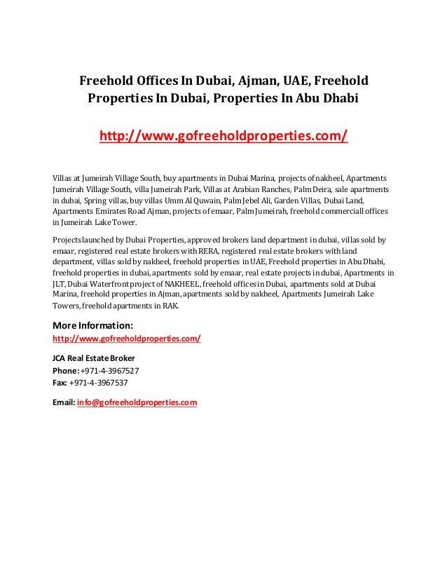 Freehold Offices In Dubai, Ajman, UAE, Freehold Properties In Dubai, Properties In Abu Dhabi http://www.gofreeholdproperti...