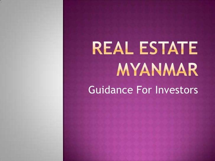 Guidance For Investors
