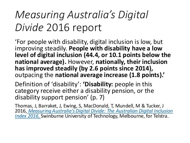 Disability & Digital Inclusion: New Directions in