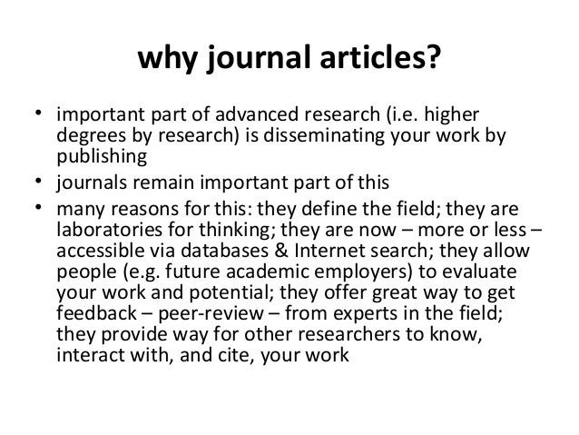 writing academic journal articles