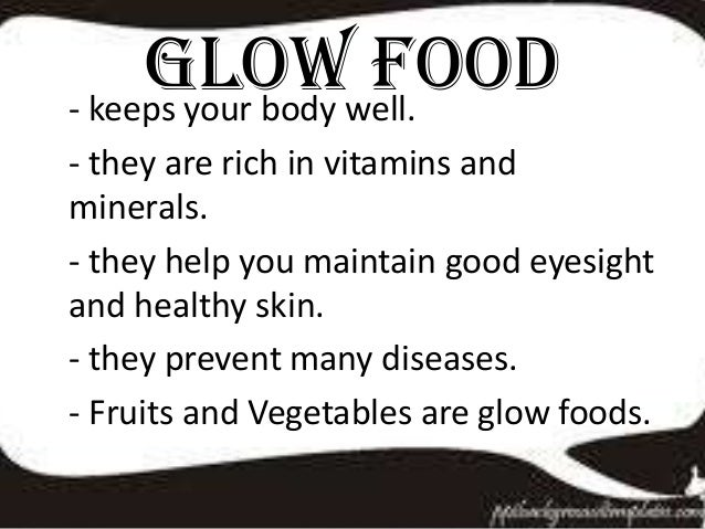 go grow glow foods list