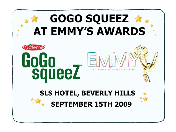 GOGO SQUEEZ AT EMMY'S AWARDS SEPTEMBER 15TH 2009 SLS HOTEL, BEVERLY HILLS