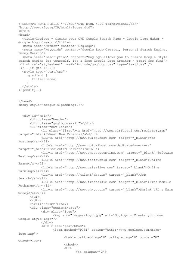 """<!DOCTYPE HTML PUBLIC """"-//W3C//DTD HTML 4.01 Transitional//EN"""" """"http://www.w3.org/TR/html4/loose.dtd""""> <html> <head> <titl..."""