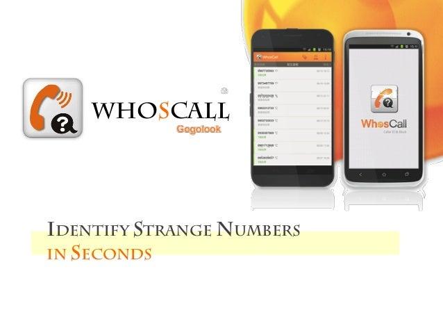 Identify strange numbersin secondswHosCall
