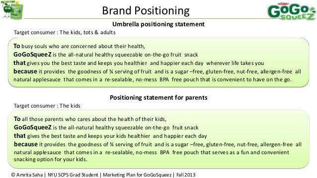 how to write a brand position statement