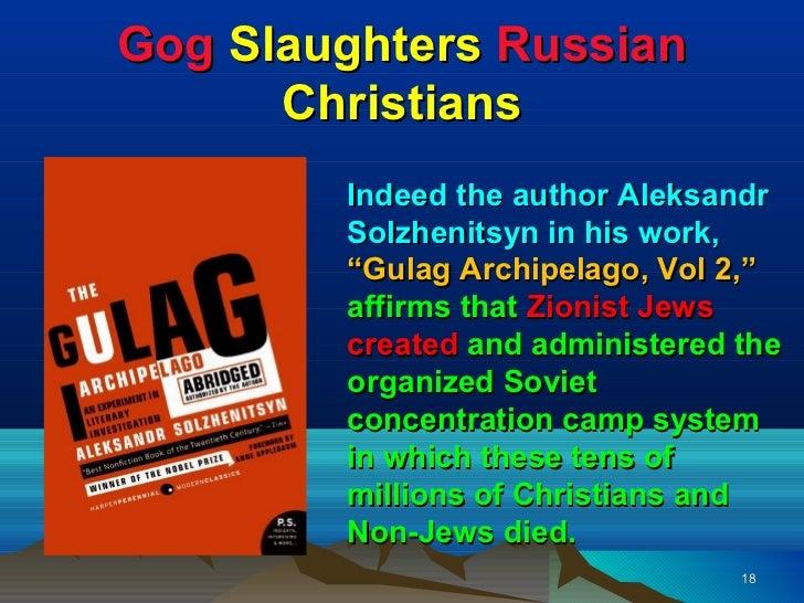Image result for aleksandr solzhenitsyn zionist gulag archipelago