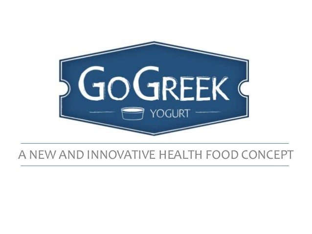 A NEW AND INNOVATIVE HEALTH FOOD CONCEPT