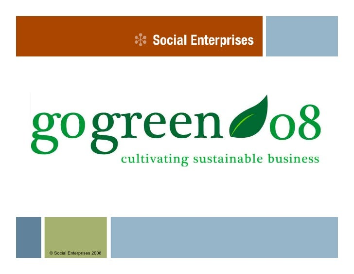 © Social Enterprises 2008