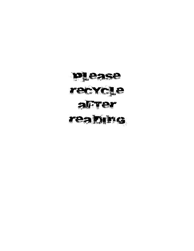 please RECYCLE AFTER REA DI NG