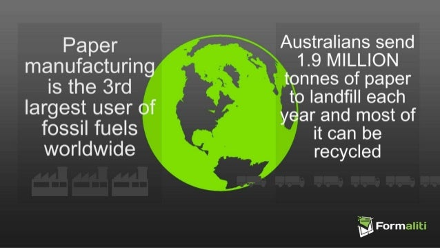 Fast facts the environment impact of paper based business for Facts about going green