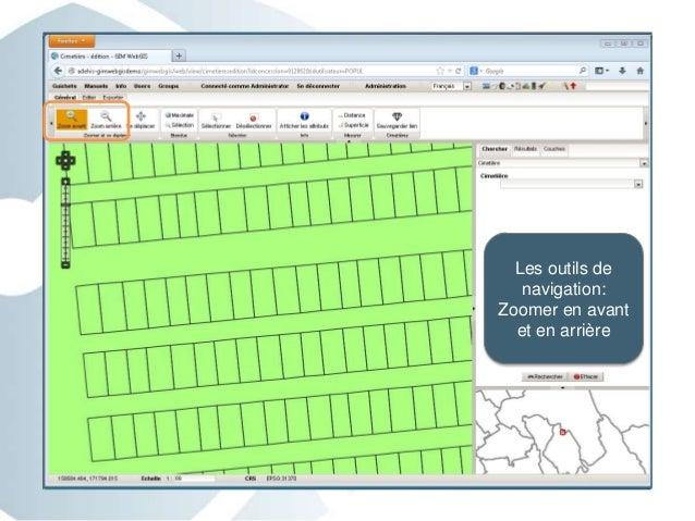 Les outils de navigation: Zoomer en avant et en arrière