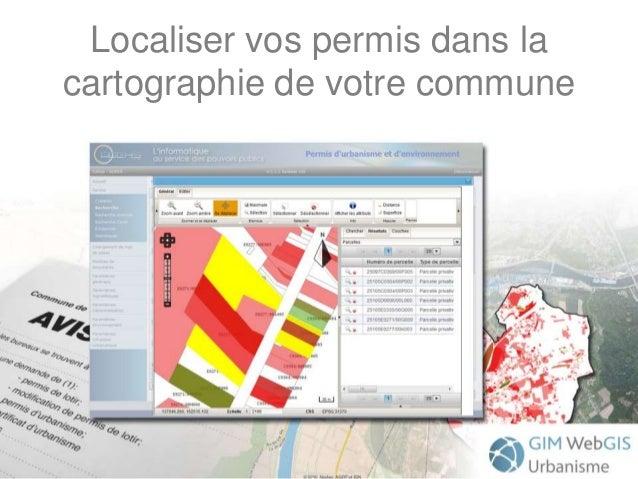Localiser vos permis dans la cartographie de votre commune