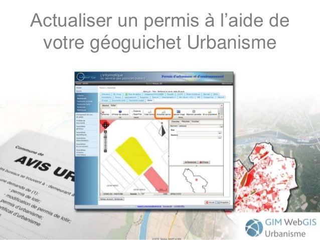 Actualiser un permis à l'aide de votre géoguichet Urbanisme