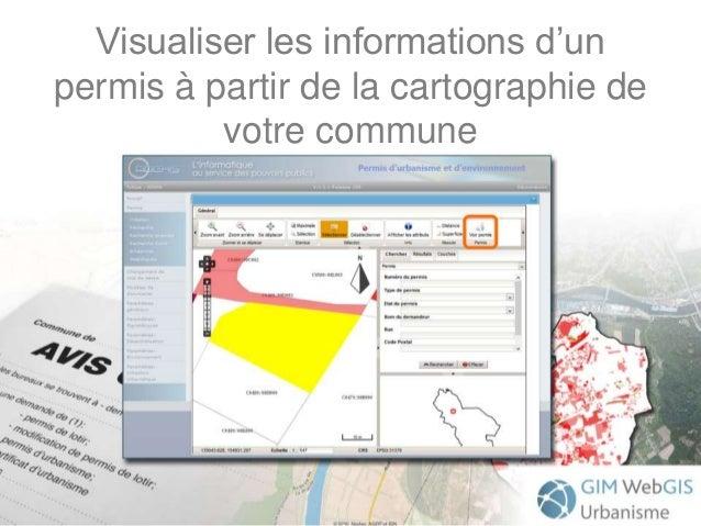 Visualiser les informations d'un permis à partir de la cartographie de votre commune