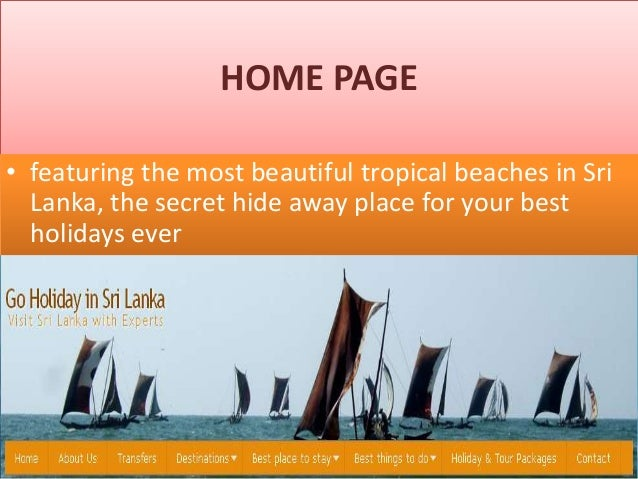 HOME PAGE • featuring the most beautiful tropical beaches in Sri Lanka, the secret hide away place for your best holidays ...