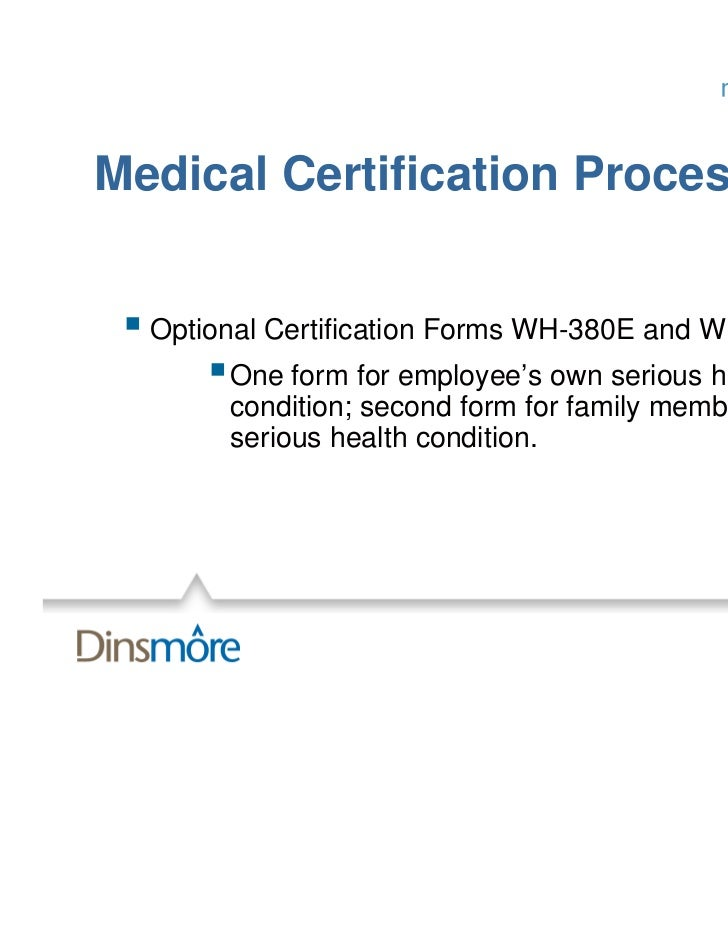 Medical Certification Process Optional Certification Forms ...