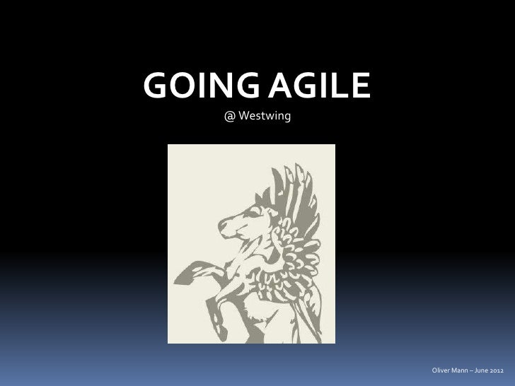 GOING AGILE   @ Westwing                Oliver Mann – June 2012