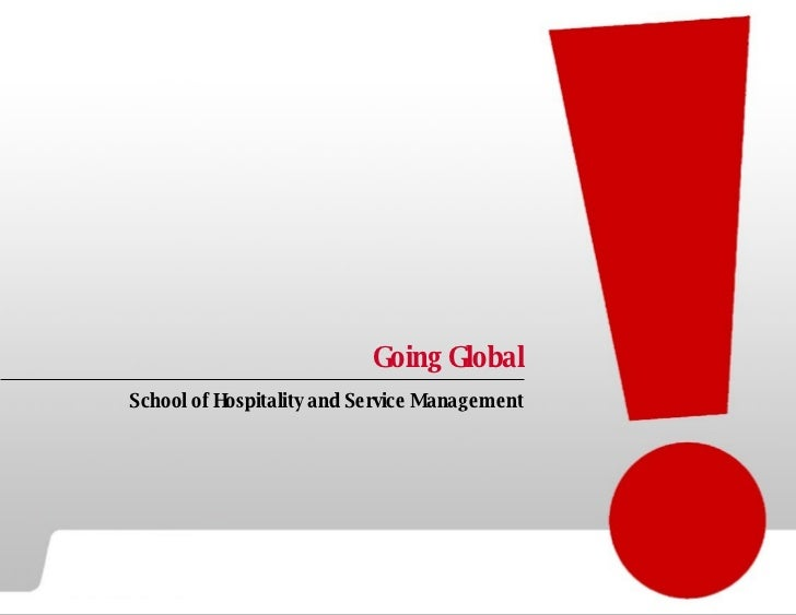 Going Global School of Hospitality and Service Management
