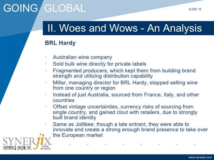 RL Hardy: Globalizing an Australian Wine company