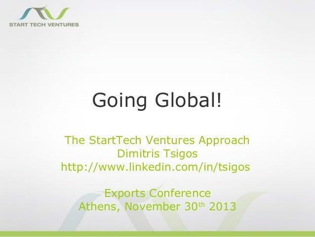 Going global Slide 2