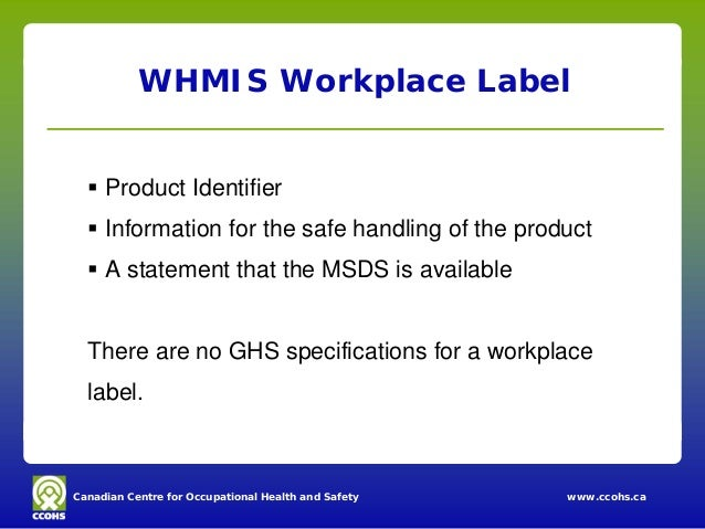 a workplace label requires only the The only requirement is that all of the required information be on the label 1   the secondary container must have affixed to it an hcs 2012 label or a  workplace.